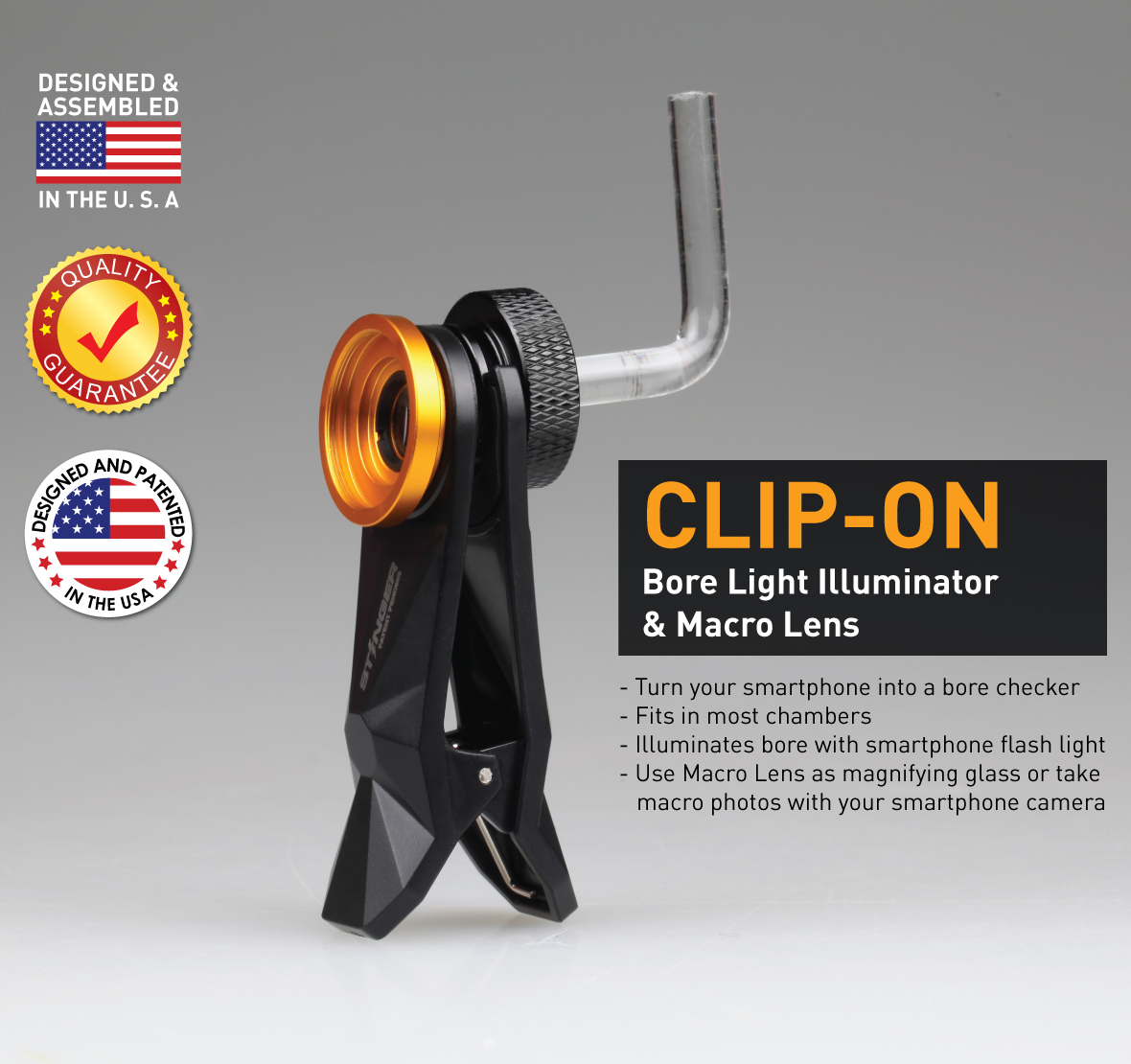 Stinger Clip-On LED bore Light Illuminator with Macro Lens