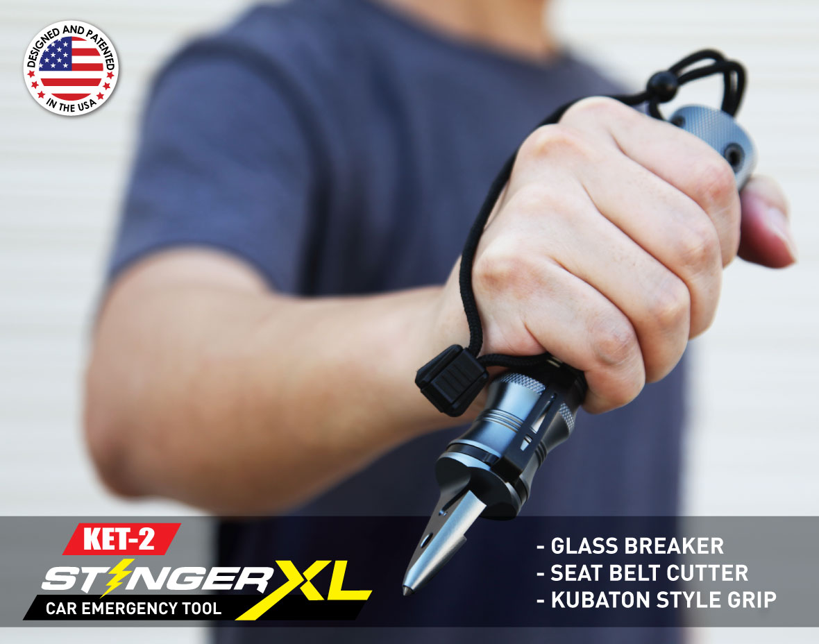 Stinger KET-2 Car Emergency Tool with Seat Belt Cutter