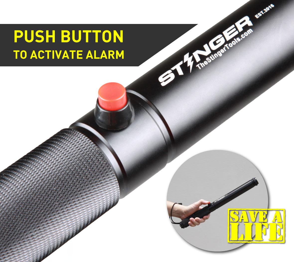 Stinger Loud Personal Alarm Emergency Tool, Safety Alarm, Glass Breaker, Original Design in USA