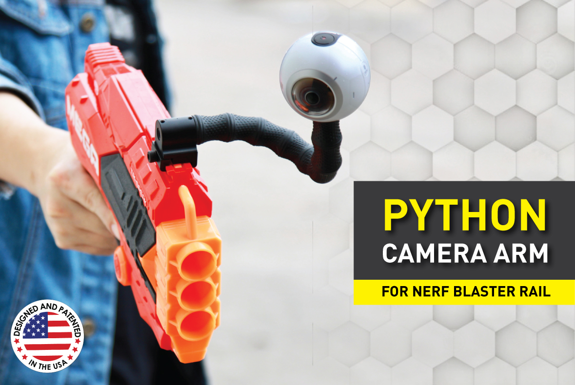 Stinger Python Camera Arm with Adaptor Mount compatible with Gopro Hero 9,8,7,6,5,4/3, Insta360 One R, AKASO, OSMO Action, and Most Action Cameras