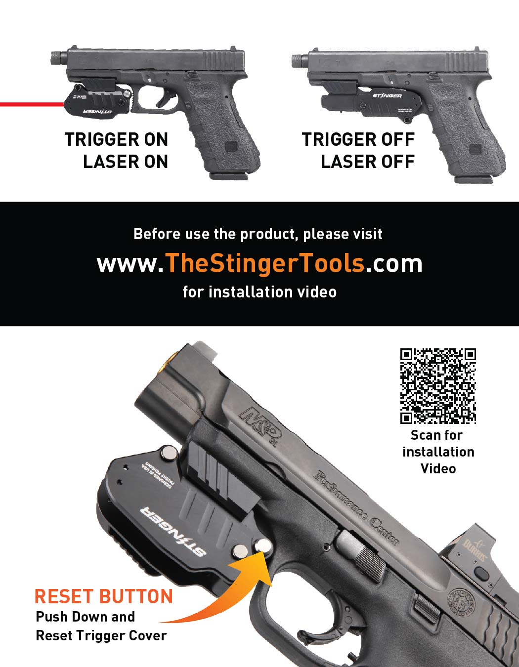Stinger Concealment with Laser Sight System: Trigger Guard Protection Cover, Belt Clip Minimalist Carry Solution