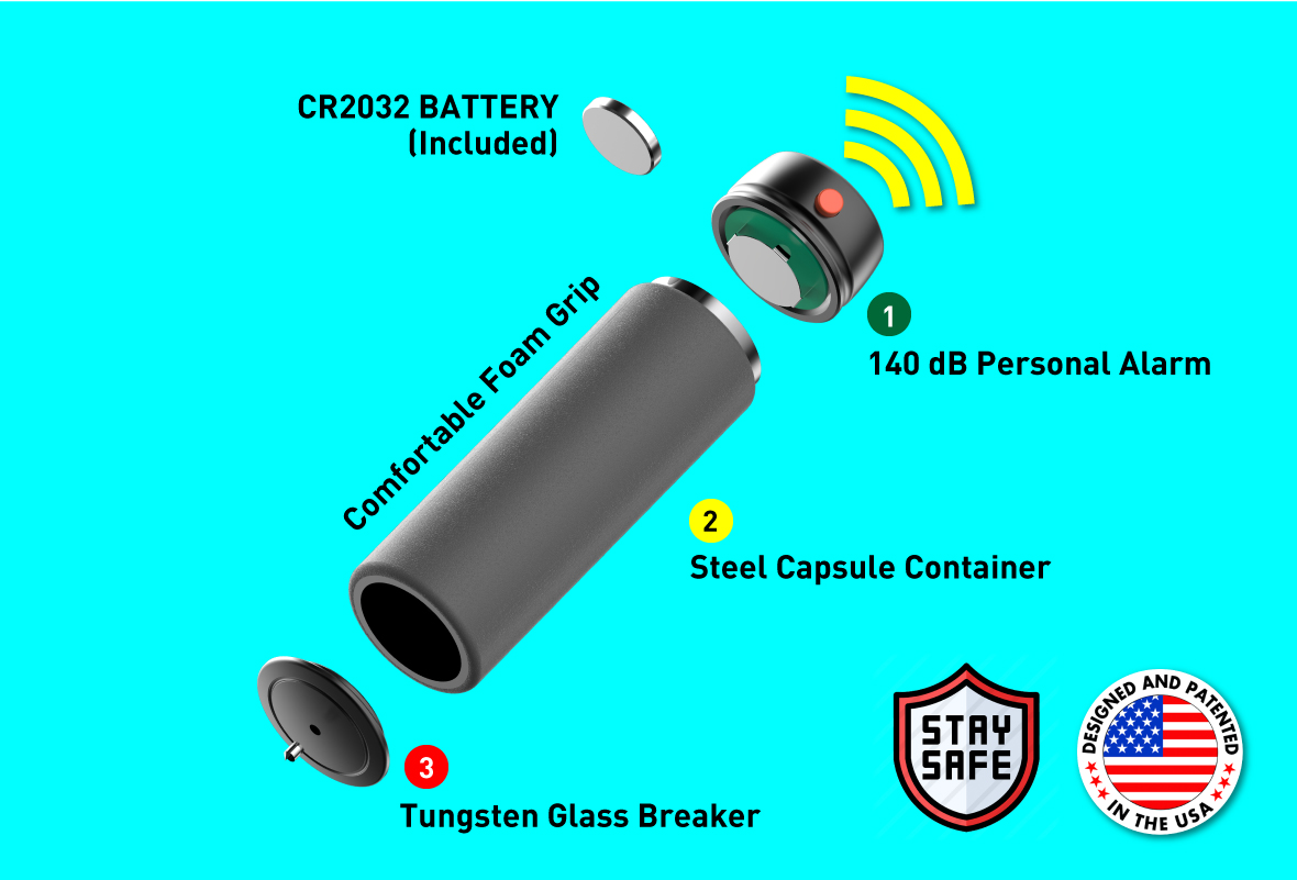Stinger Walking Weights Alert with Personal Alarm and Glass Breaker